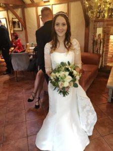 Amy's wedding dress